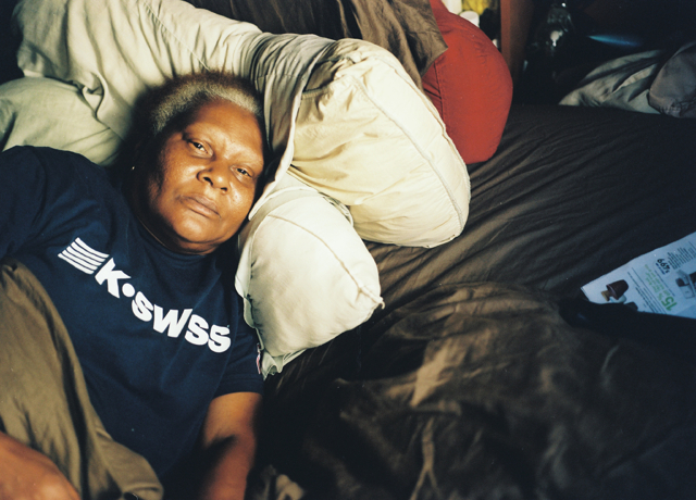 Mom in bed, April 2015, Sylmar, California