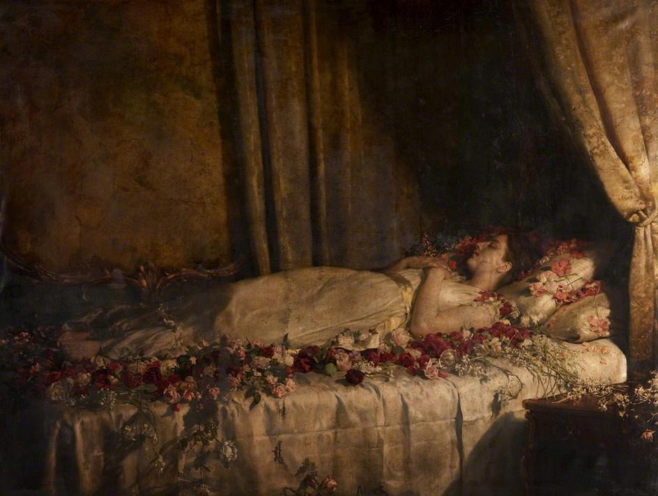 The Death of Albine (1895)  by John Maler Collier.