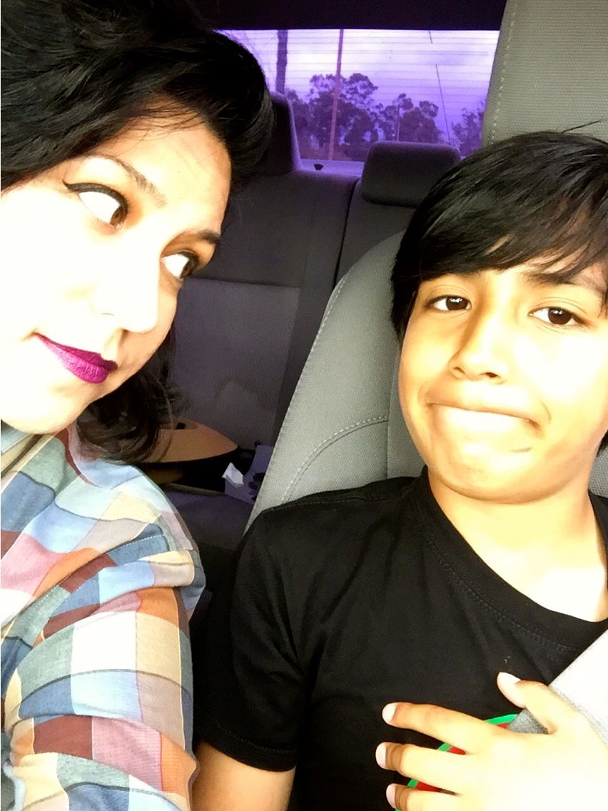 Gonzales with her son, Miles. Photo via Gonzales.