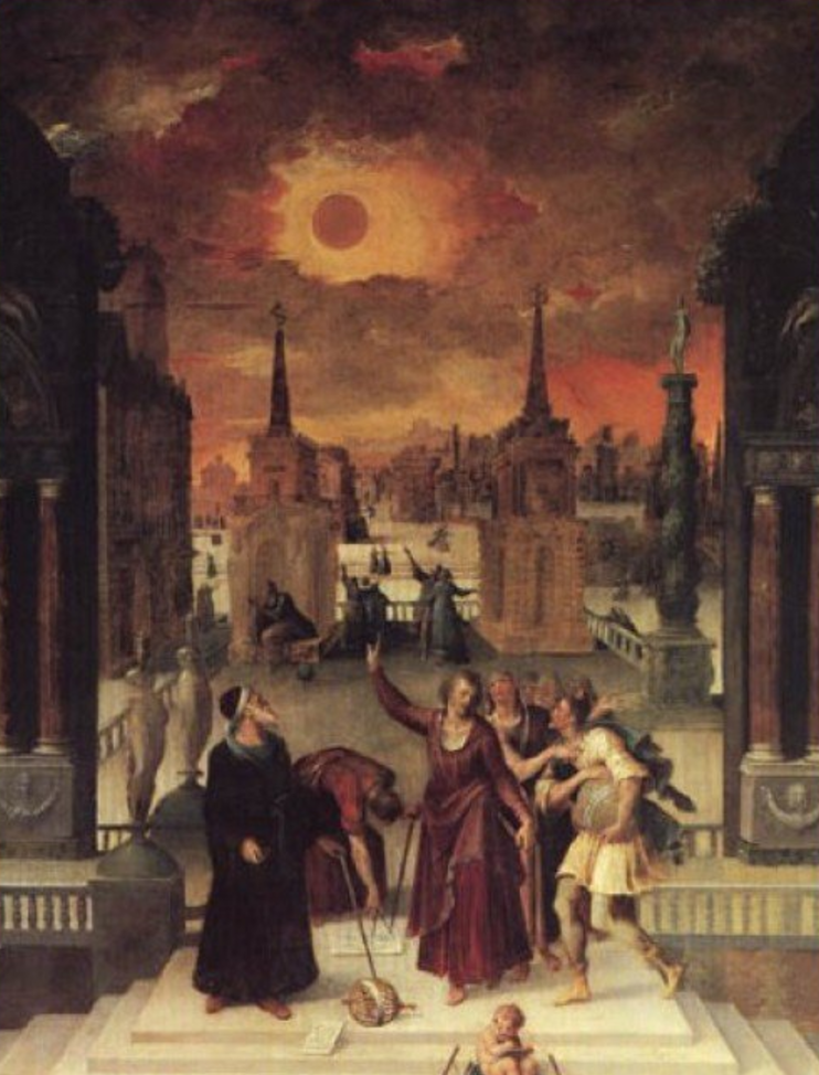 Astronomers Studying an Eclipse by Antoine Caron
