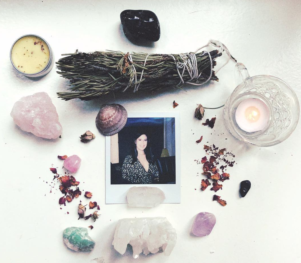 Altar by Lisa Marie Basile, polaroid by Gregory Crosby