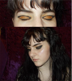 Isabella: I also forgot to take off the orange eyeshadow I was already wearing before I took the pictures for this tutorial. Messiest beauty editor award goes to me!