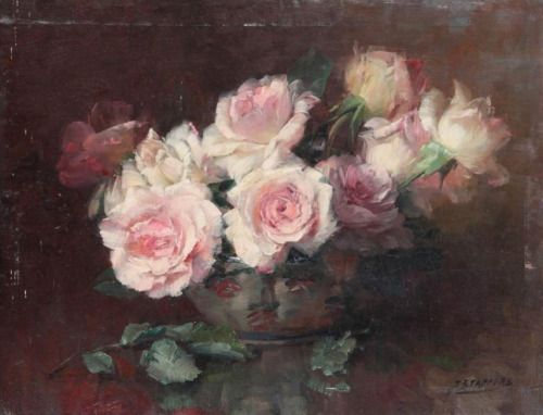 Still Life with Roses.Julien Stappers.