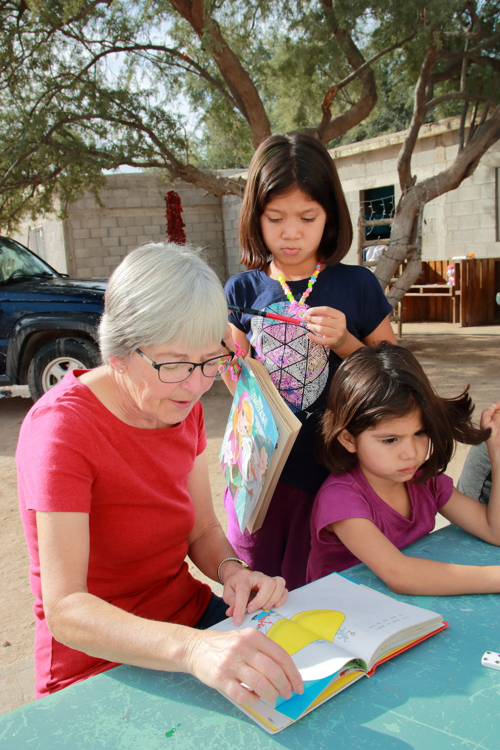 Twice a week Lucy helps out at a Children's Home - There are 27 kids at this Casa Hogar.