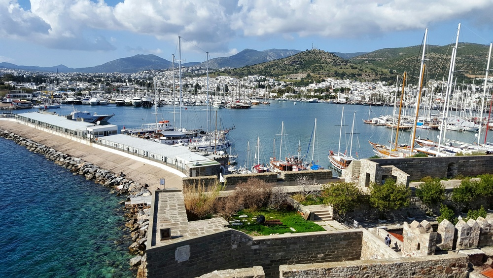 View of Bodrum from the castle.