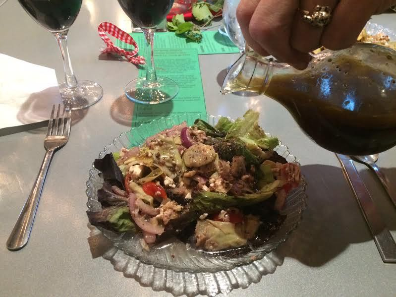 Silvio's Red wine was also featured in the light salad dressing. (Photo by David Draker)