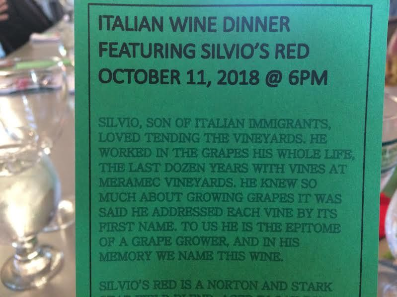 What do you suppose Silvio named his vines? (Photo by Charlotte Ekker Wiggins)