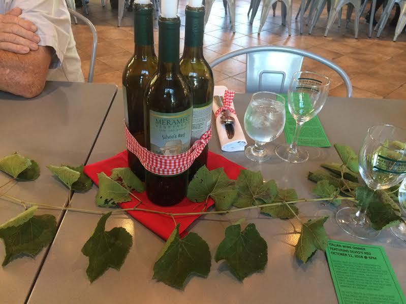 A few more bottles of wine now available for table decor. (Photo by Charlotte Ekker Wiggins)