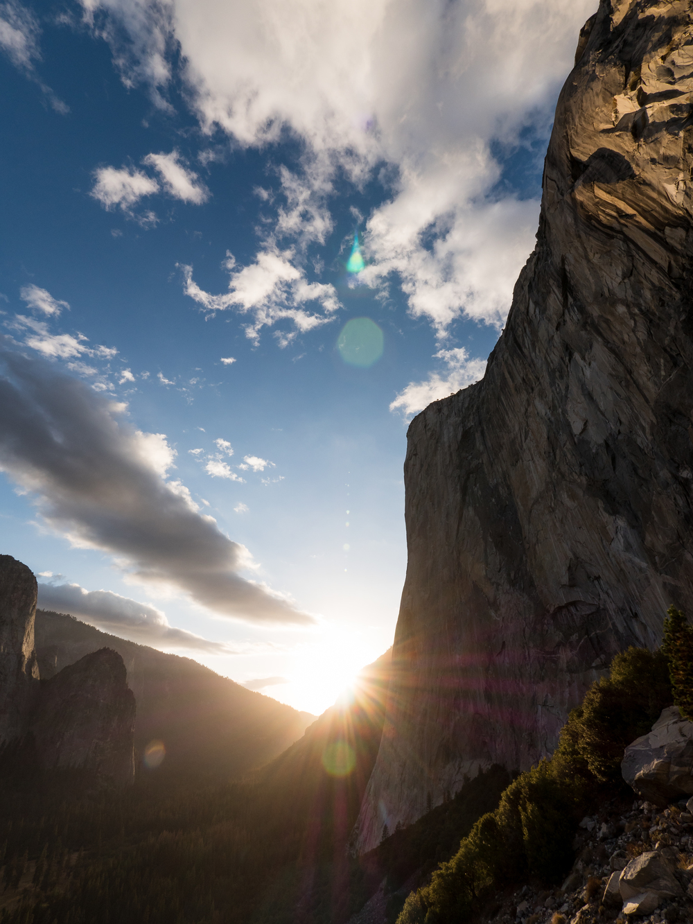 The last light on El Cap