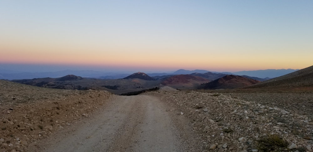 Beautiful Sunset off White Mountain - Photos were not enough for how awesome it was up here in the crisp evening air cruising at full speed! Some have asked what my favorite view of the trip was? Right here!
