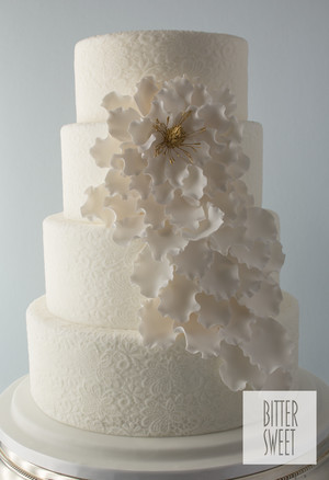 Wedding White Lace And Cascading Flower