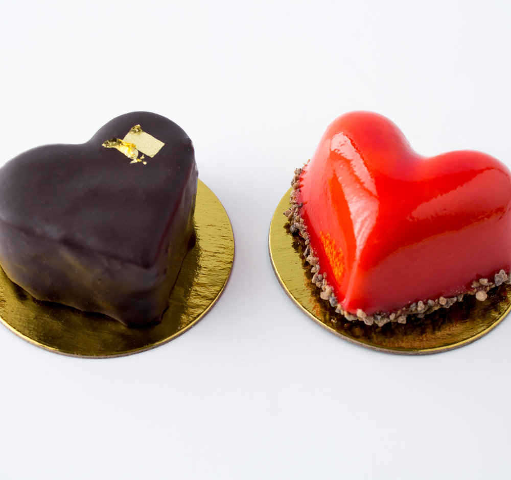 Desserts for one or two... - Surprise that special someone with a heart-shaped dessert, perfect for sharing.