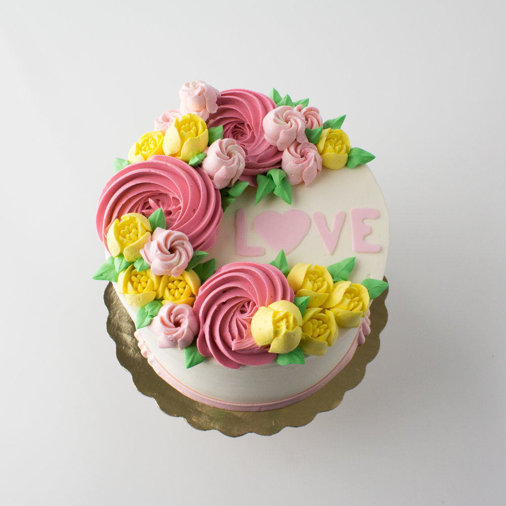 Share the Love - Delicious and beautiful cakes sized to serve all of your favorite people.