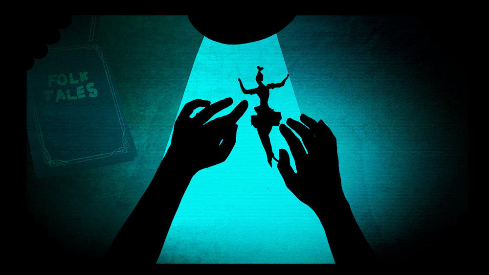 LOTTE'S HANDS.Image credit: Trick Studio Juliet comes to life after she is cut from a piece of paper.