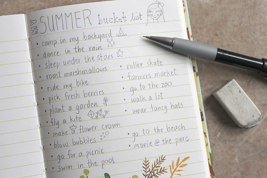bucket list for the summer