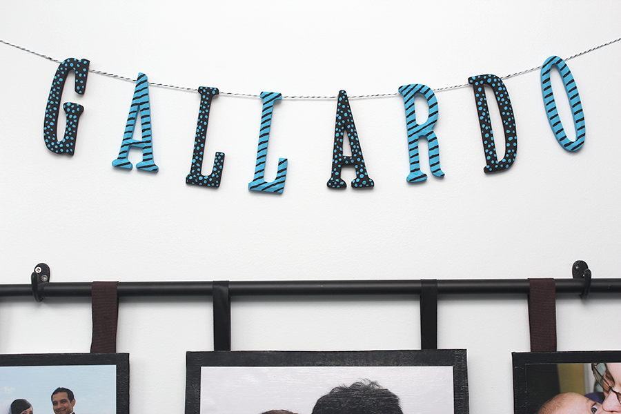 diy craft wooden letter garland