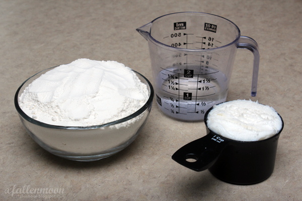 flour shortening water