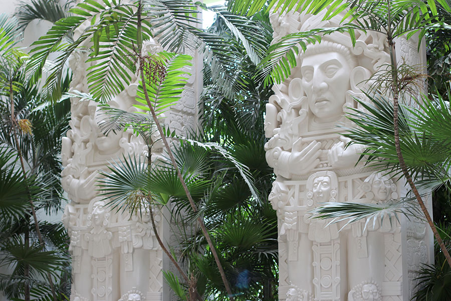 decor at the mayan palace acapulco