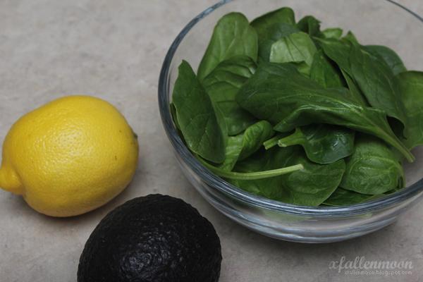 spinach lemon avocado