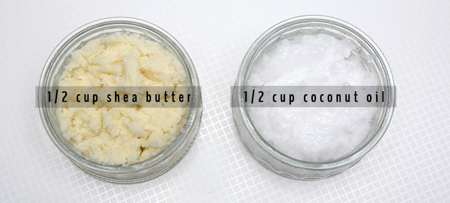 shea butter and coconut oil ingredients