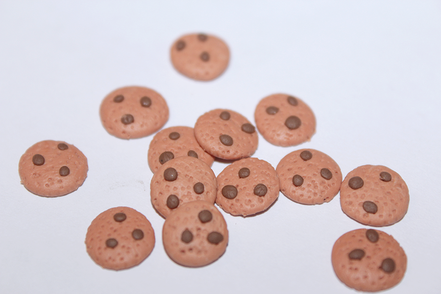 fimo clay chocolate chip cookies