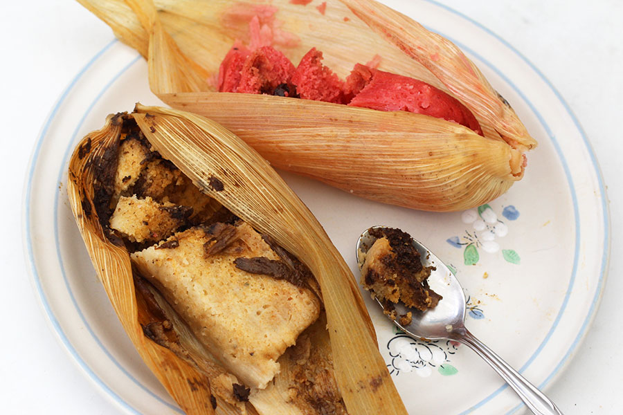 delicious mexican breakfast tamales