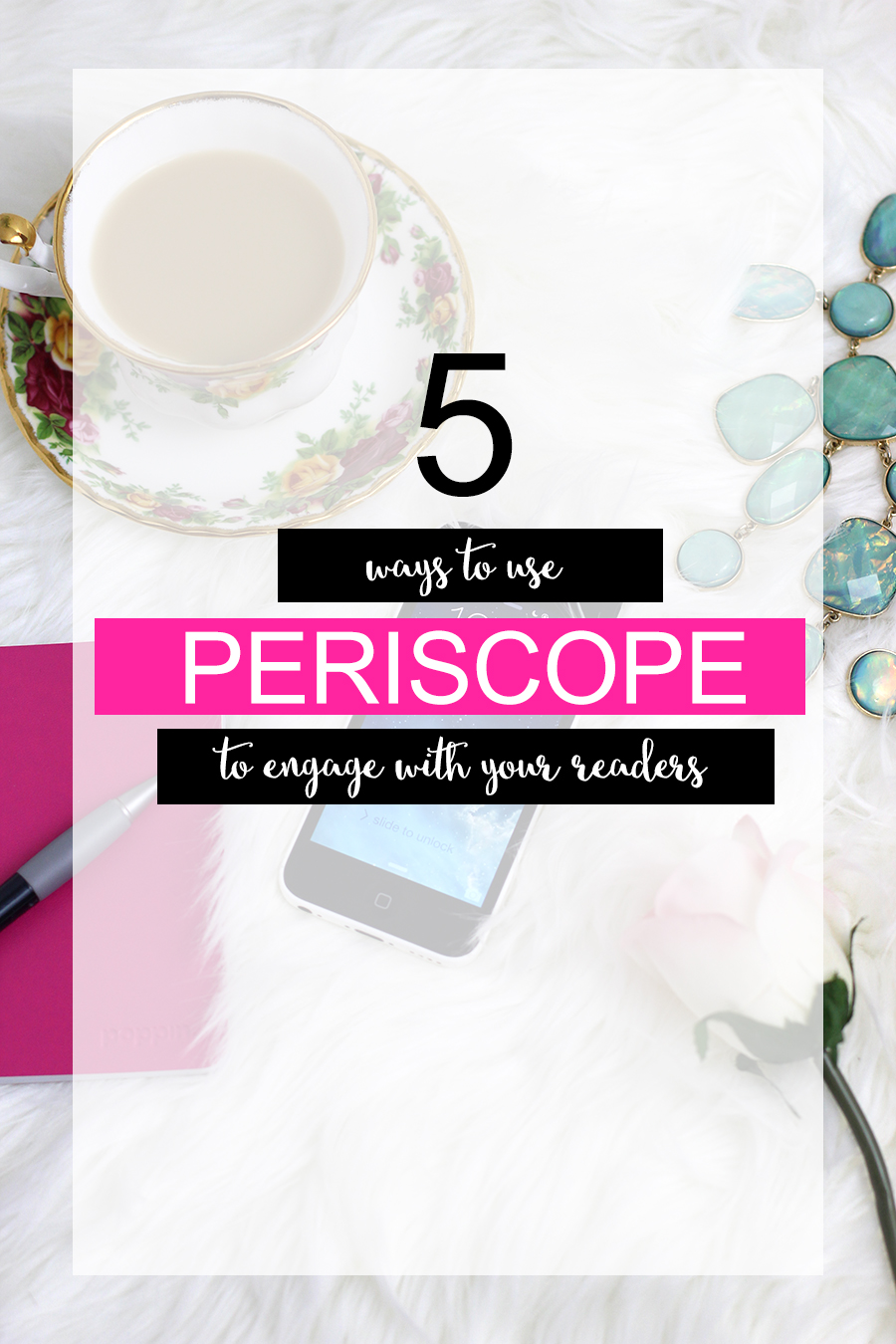 5 ways to use periscope to engage with your readers. Click through to find out.