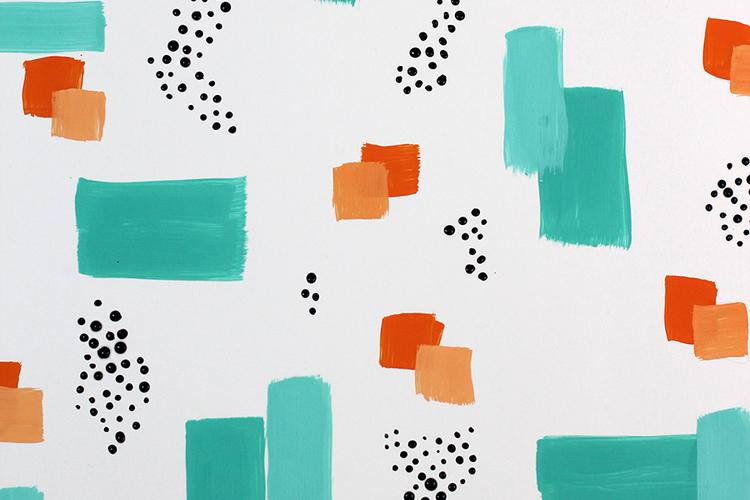DIY: Easy Brush Stroke Abstract Wall Art — xfallenmoon