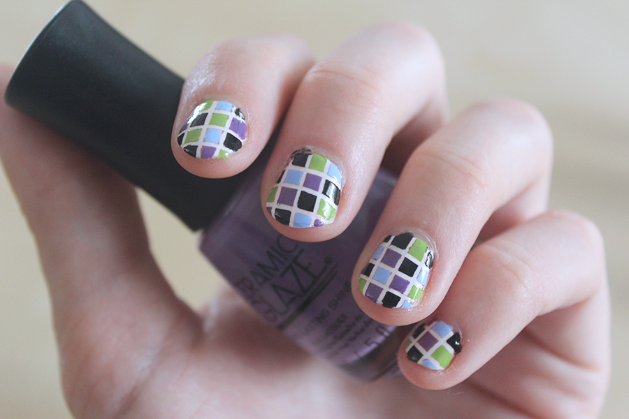 Square nail art.