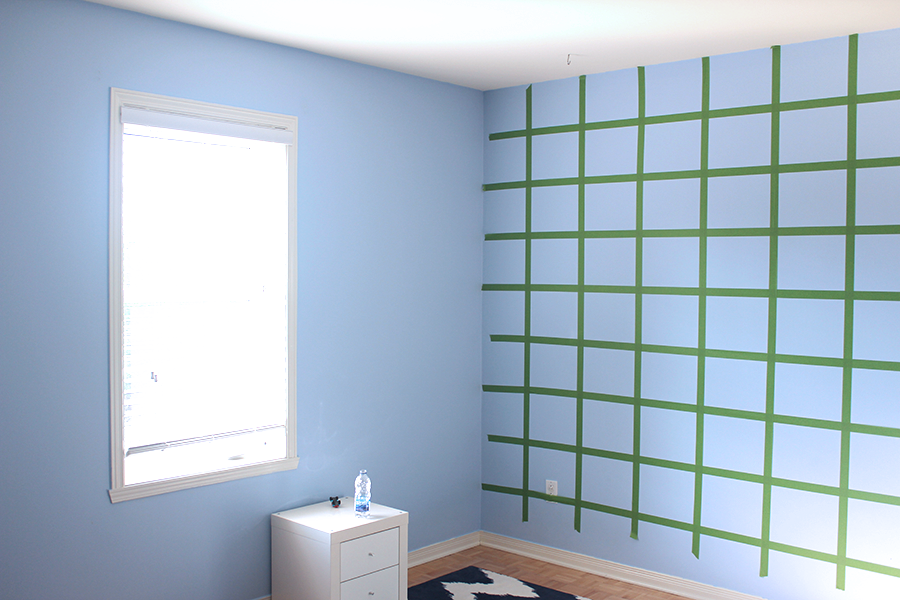 Make a grid with painter's tape.