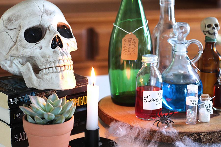 Halloween apothecary.