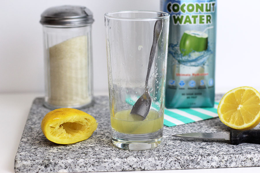 Squeeze the juice of half a lemon and add some sugar to taste.