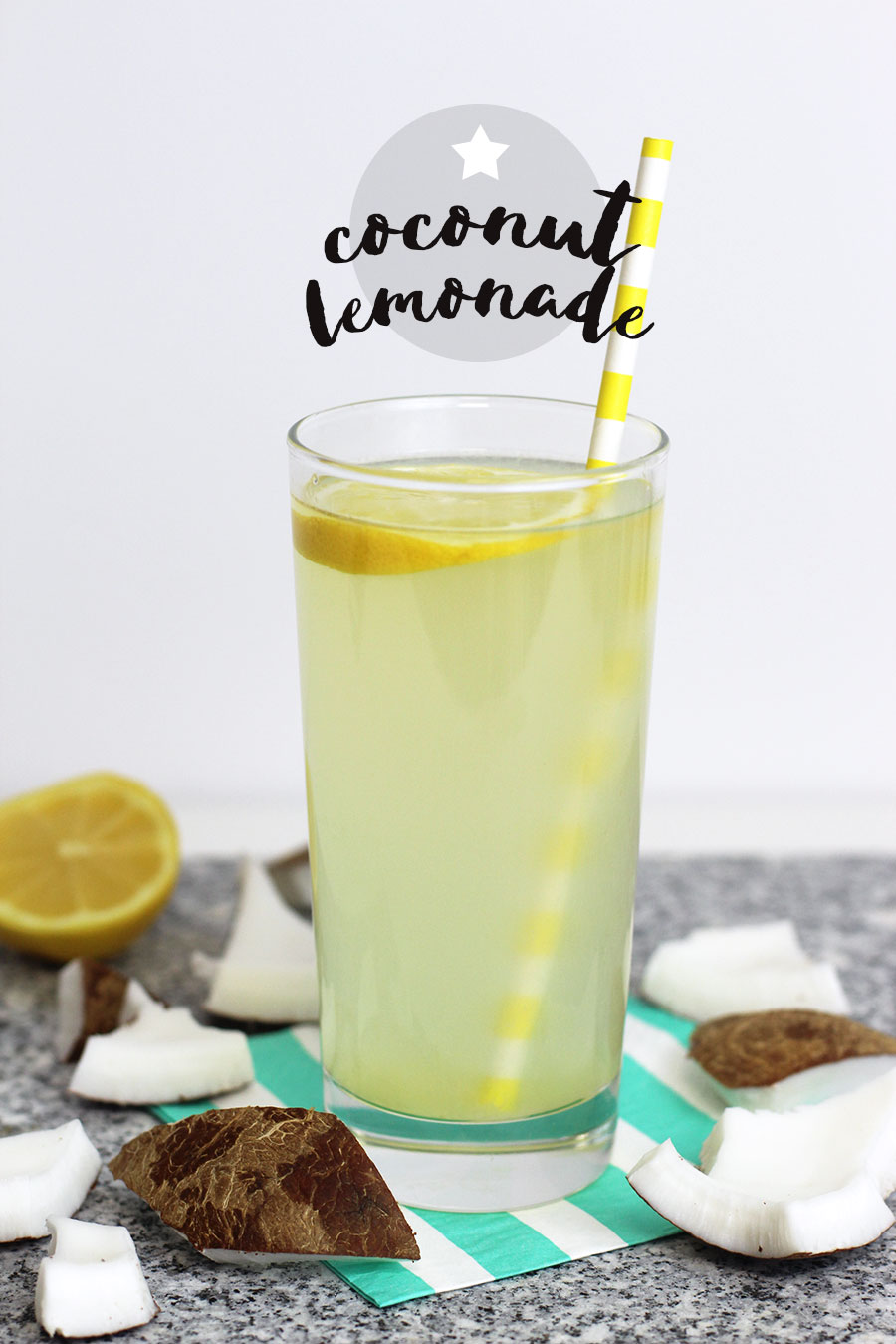 A delicious summer drink made with coconut water, lemon juice and sugar. It's a great alternative to gatorade when you need to quench your thirst. Plus, it's completely natural with tons of essential vitamins. Perfect for a warm summer day or after a workout. Click for recipe.
