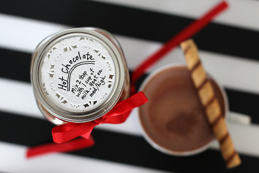 Make pretty label for your homemade hot chocolate mix.