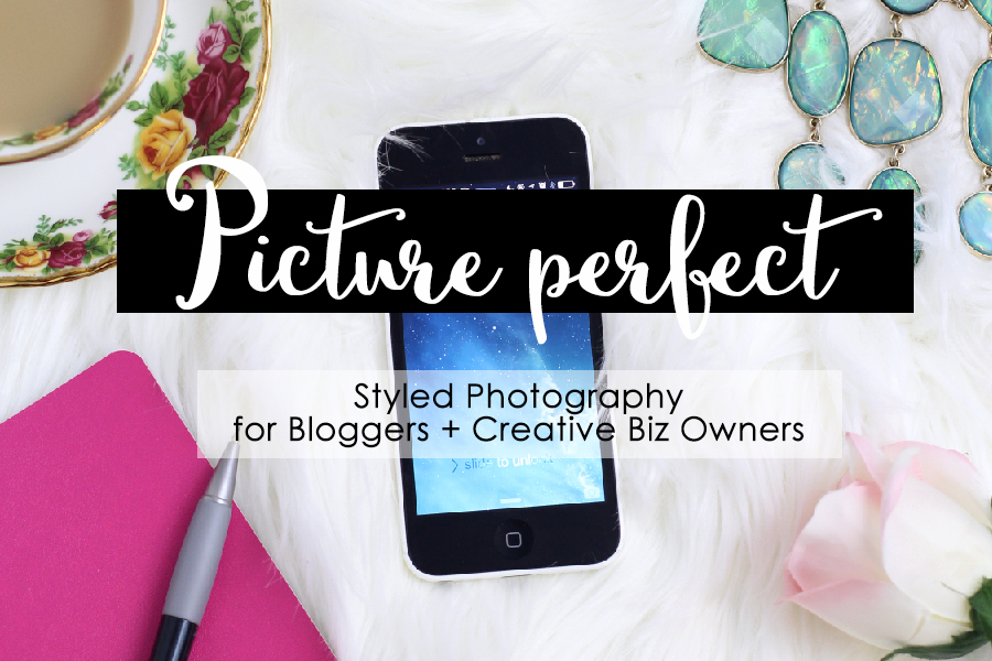 Picture Perfect, a styled photography course for bloggers and creative biz owners. A photography course that is easy to understand and gives you simple actionable steps to stage and edit your photos.