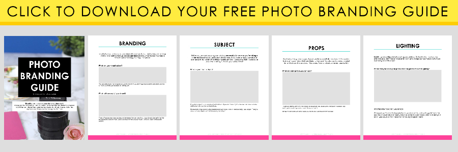 Click to download your free photo branding guide.