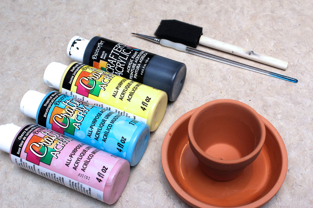 painted clay pots plant stands tools and materials.jpg