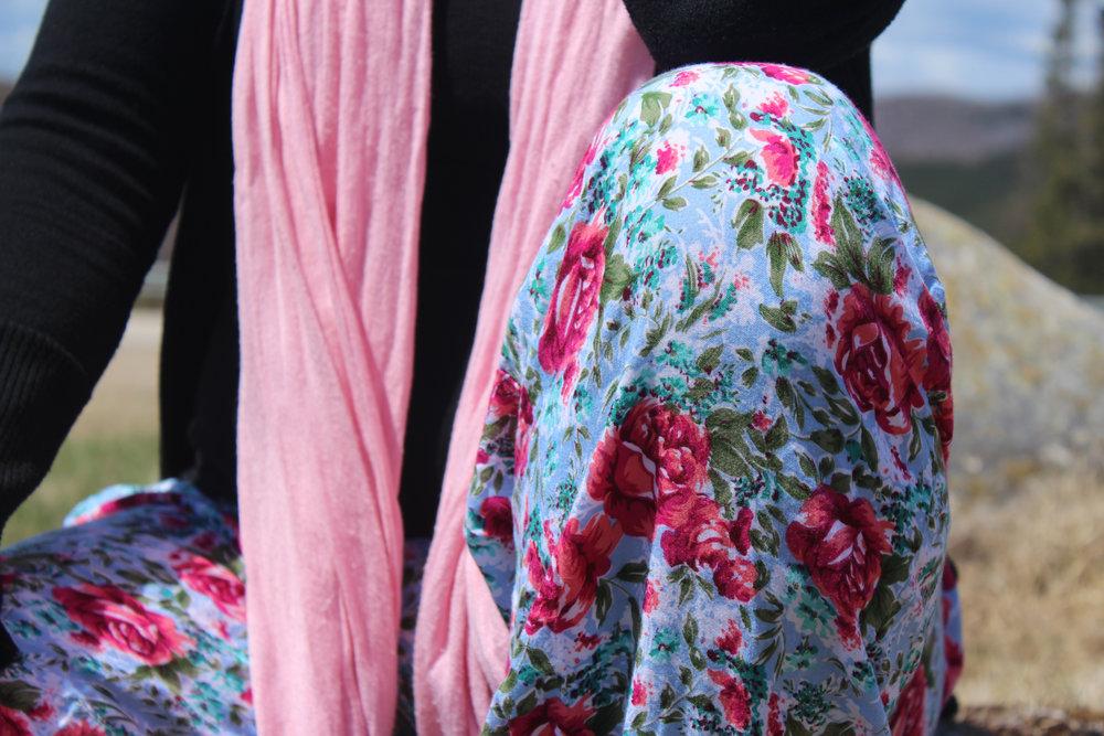 fun flower pants and pink scarf.jpg