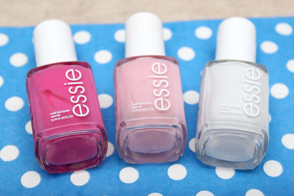 pink geometric nail art materials.jpg