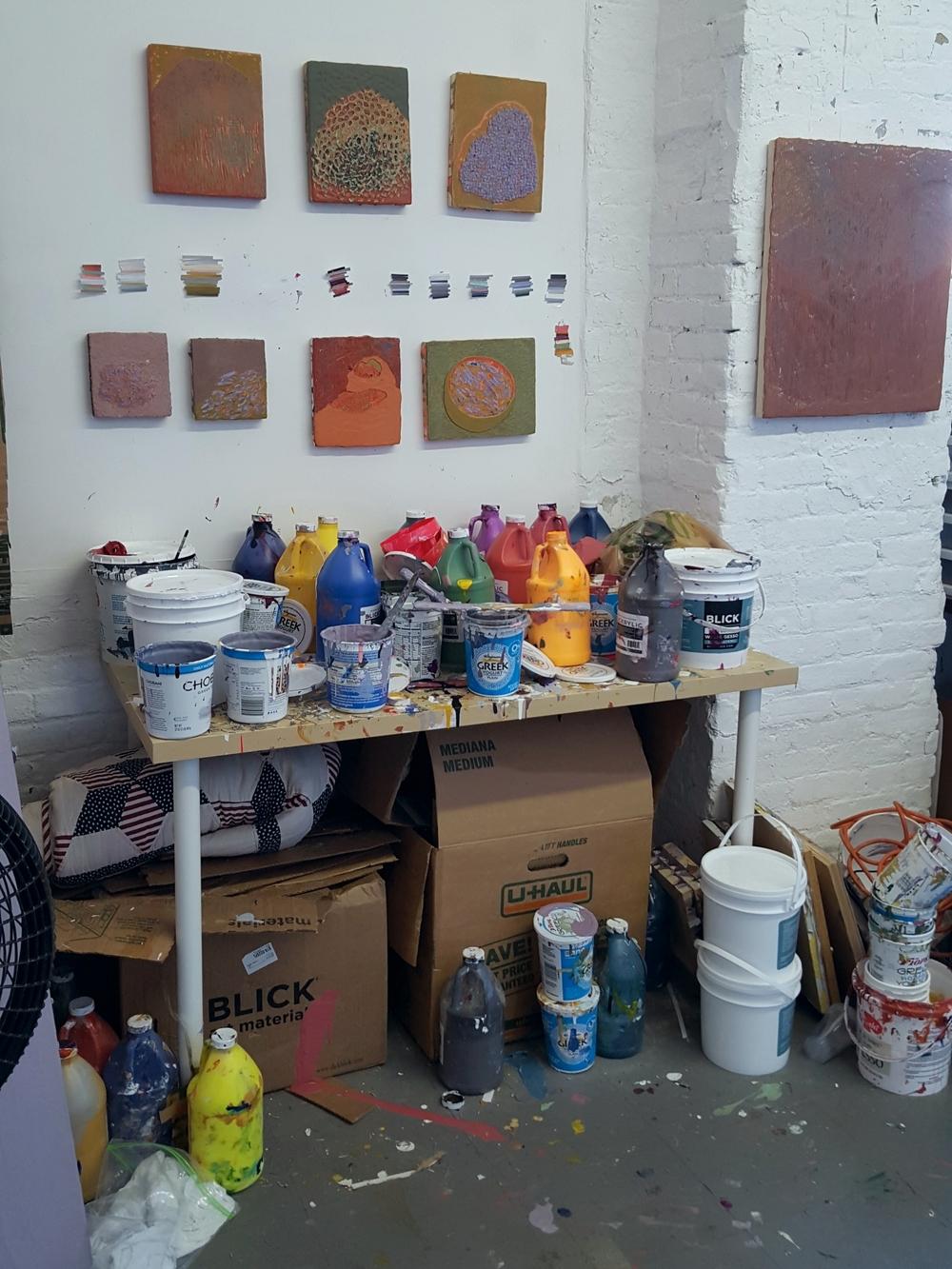 In Karin Waskiewicz's studio