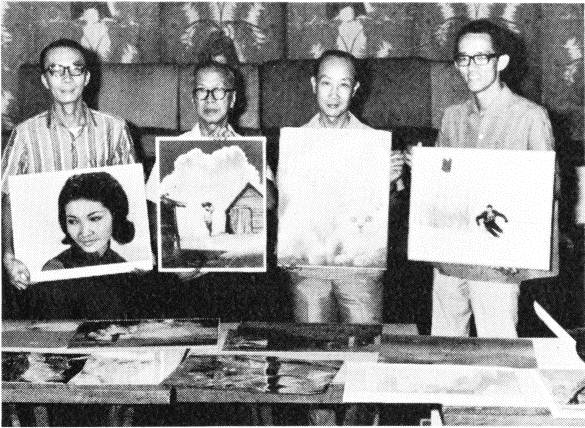The jury of the 20th Singapore International Salon of Photography judges the submitted prints. 1969. Reproduced in: Alise Tifentale,   The Photograph as Art in Latvia, 1960-1969  , p. 47.