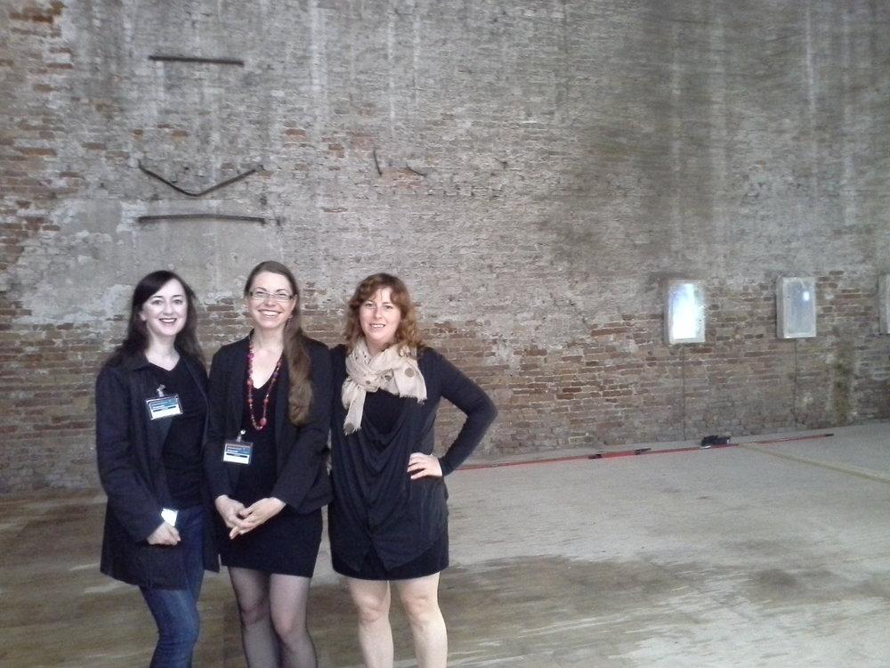 From the left: Anne Barlow. Alise Tifentale, Courtenay Finn.