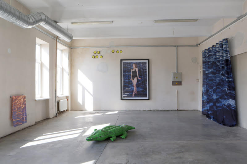 Līga Spunde,    Hope I won't get bored in heaven,   2015 (installation view).