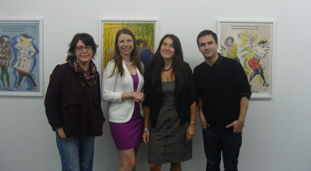 From left: Ella Kruglyanskaya, Alise Tifentale, Cristina Kiaer, and Sanya Kantarovsky in the exhibition  Little Vera.
