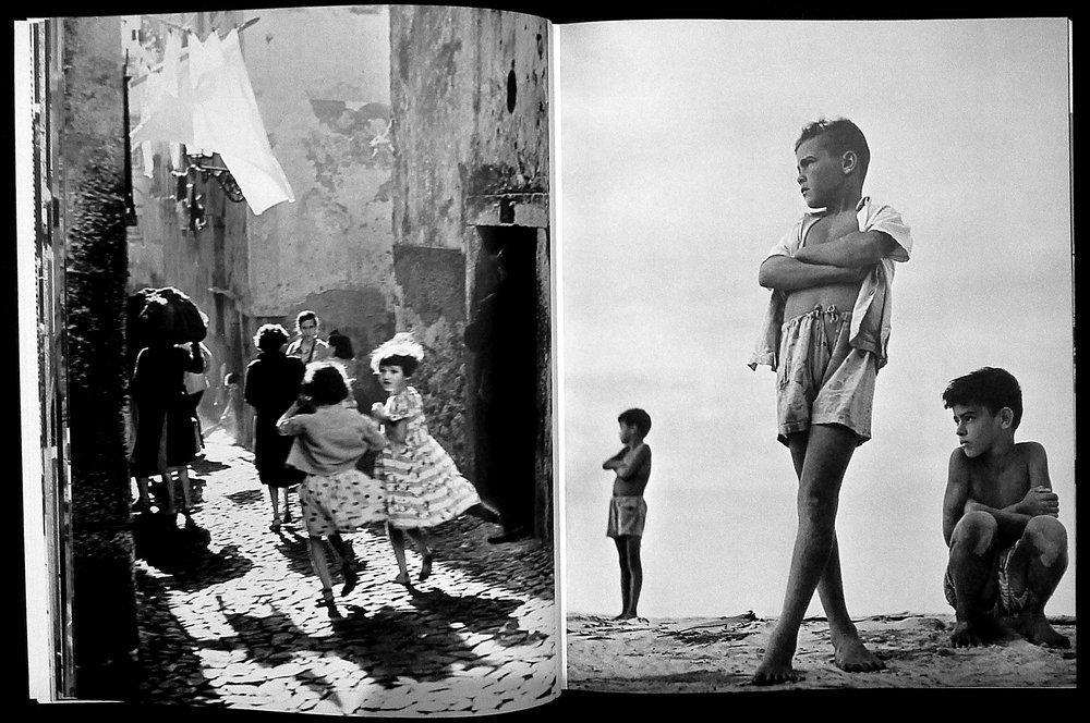 15.00                 Spread from the 1958 FIAP Yearbook (with works from the 1956 FIAP Biennial). Left:  Jean Lecocq,  (São Paulo, Brazil),  Cortiço . Right:  Francisco (Chico) de Albuquerque  (São Paulo, Brazil),  Crianças .