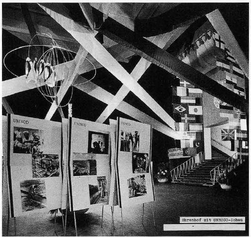UNESCO photography exhibition at   Photokina 1956  .Photo: Charles E. Fraser.