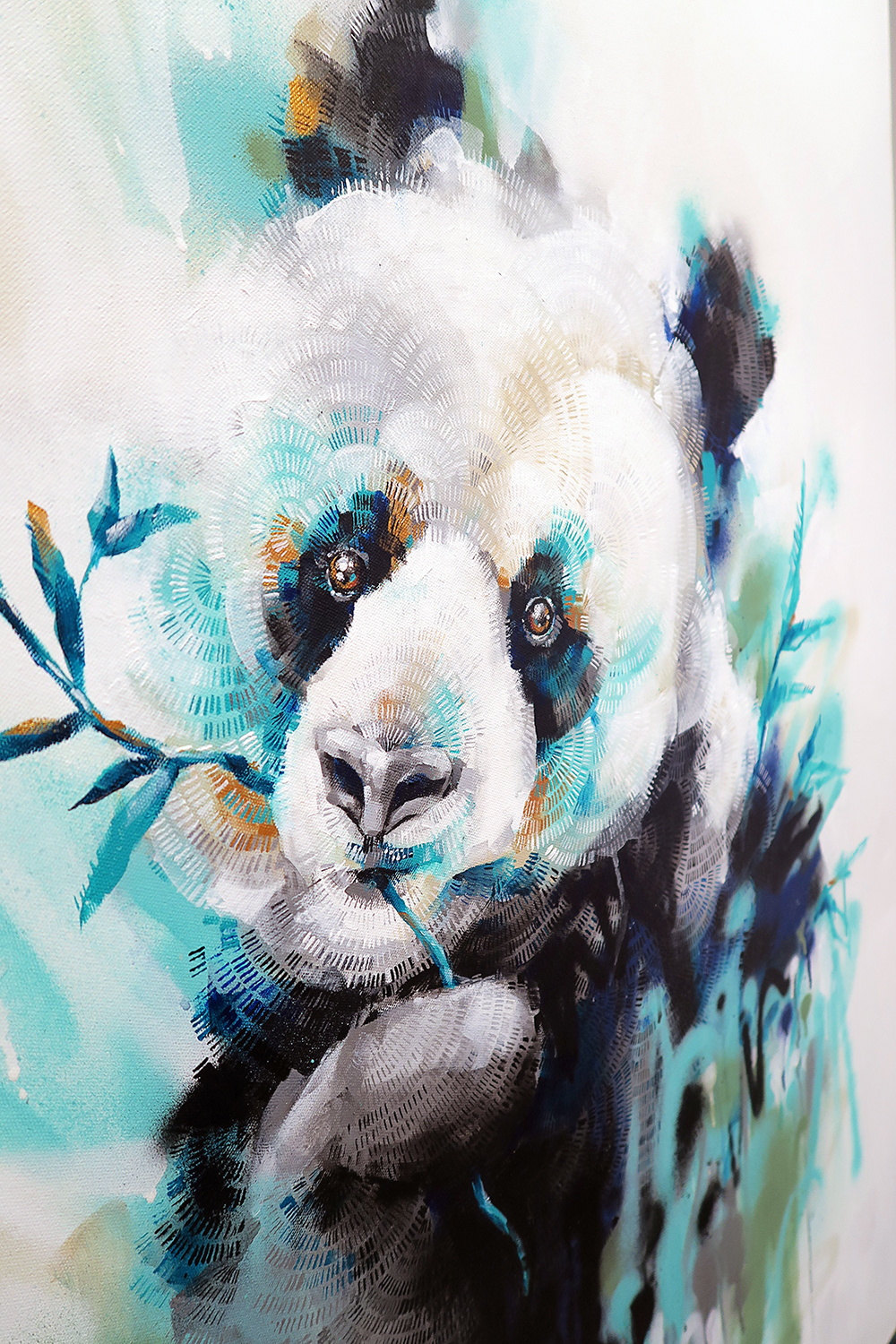 Panda with Blue – detail