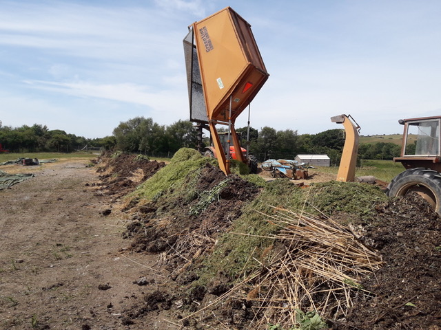 Building the windrow