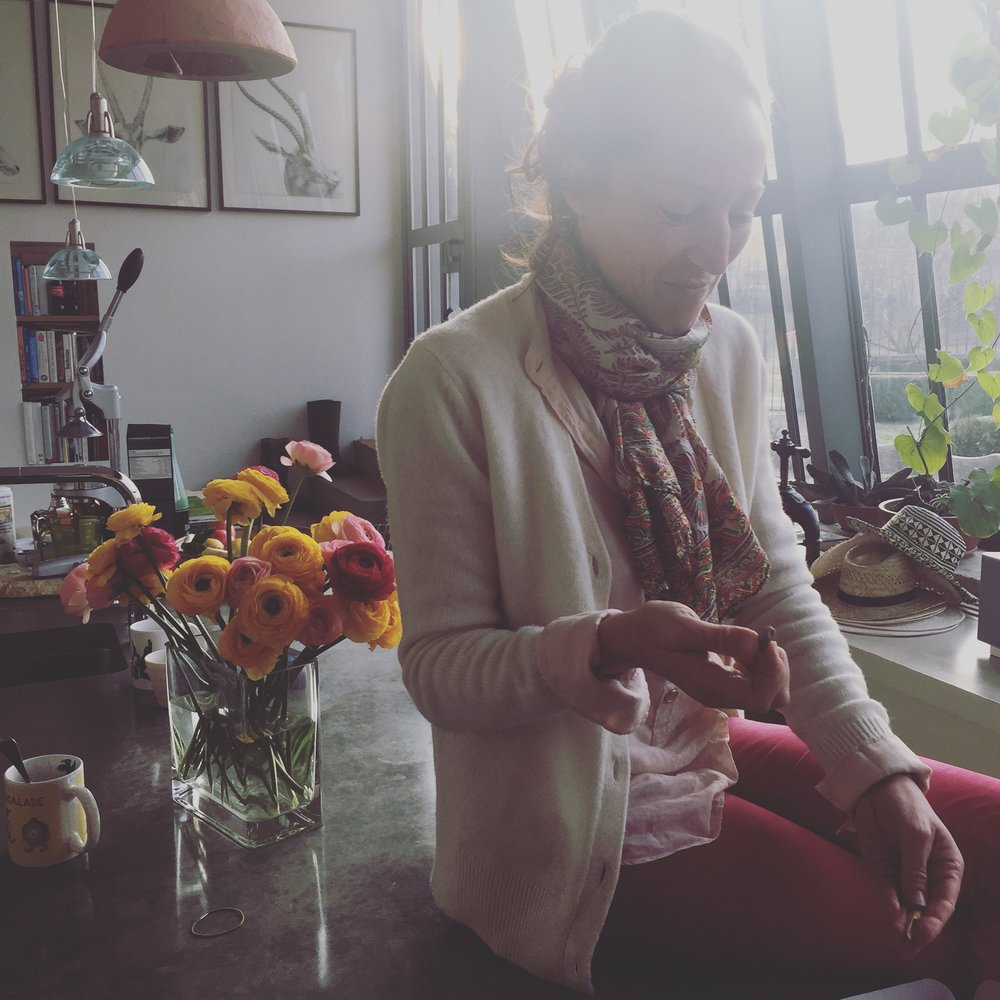 Marina in her Glasshouse