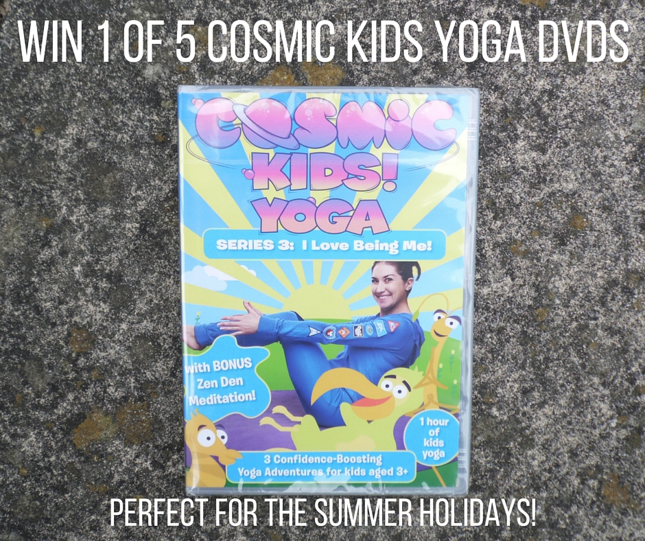 Win 1 of 5 Cosmic Kids Yoga DVDs - I Love Being Me